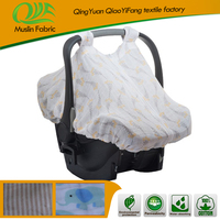 Soft cheap imitation sheepskin baby car seat cover for infant car seat