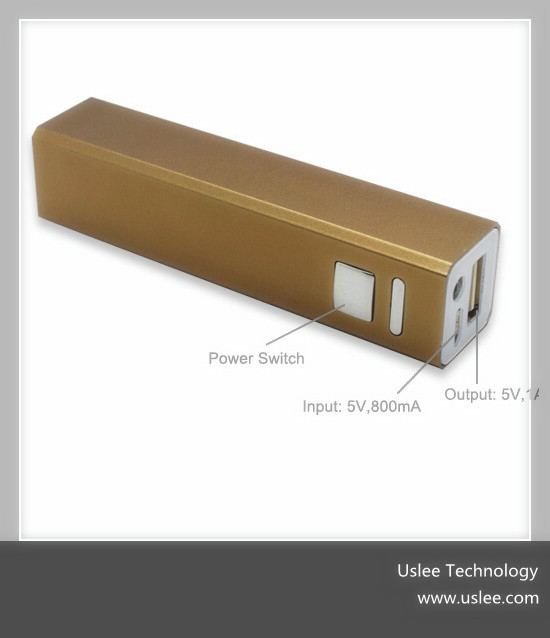 2014 new products lipstick charger portable power bank 2600mah made in china