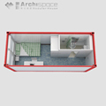 CYMB one bedroom prefab house with expandable container house