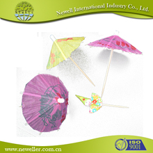 2014 Wholesale decorative picks jumbo umbrellas flag picks For Bulk Sale
