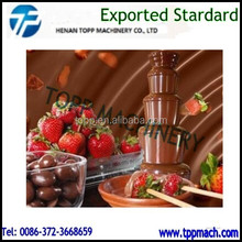 Small Model Chocolate Coating Machine/Commercial Hot Chocolate Dipping Fountain Machine