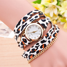 Personality vogue leopard grain design ladies bracelet wrist watch