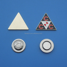 custom triangle famous brand metal badges, lapel pins