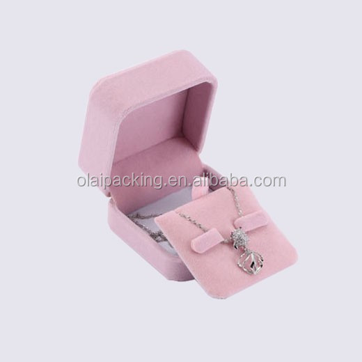 new design plastic jewelry box flocking, costom handmade velvet jewelry gift packaging,colorful wedding velvet jewelry box