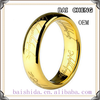 New design several colors with Letter ring stainless steel ring without stone