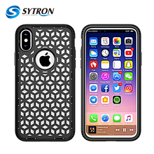 Beautiful Mesh Cellphone Back Cover tpu pc combo case for Apple iphone 8