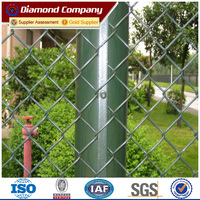 OA payment available PVC coated Diamond shape wire mesh sports chain link fence