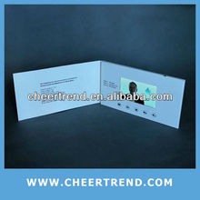 4.3 inch lcd video in print/video greeting card/video brochure