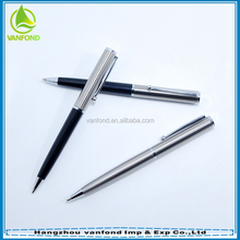 China promotional customized chrome silver metal steel pen