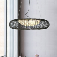 Contracted chaind iron art glass lamp shade for hanging lamp