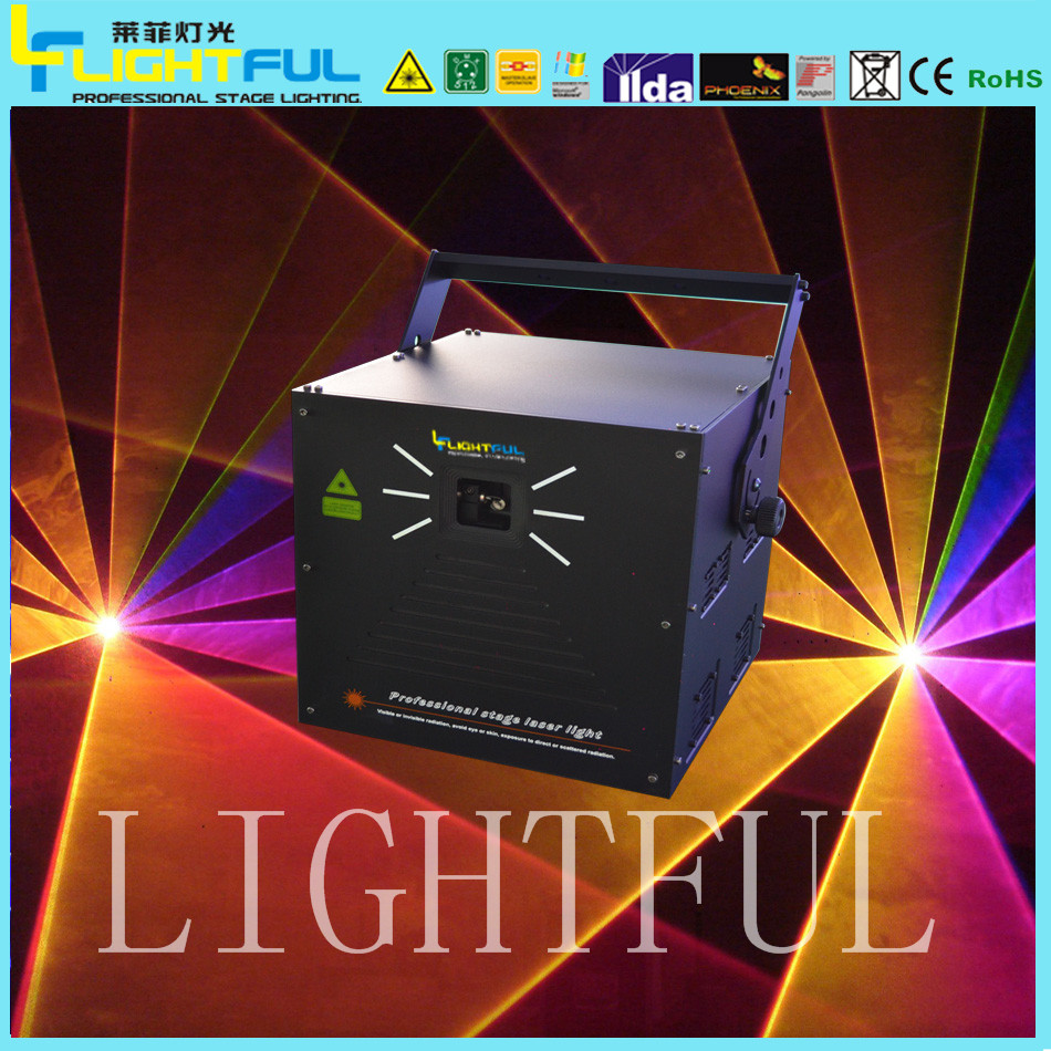5000mw animation laser lights dmx ilda rgb disco dj stage lighting
