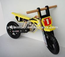 2015 popular wooden inflatable motor bike