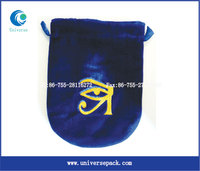 custom hot stamping jewelry velvet pouch with drawstring