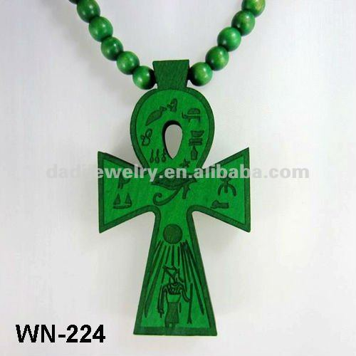 Africa Wooden Chain Necklace Hip Hop Custom Wood Pendant