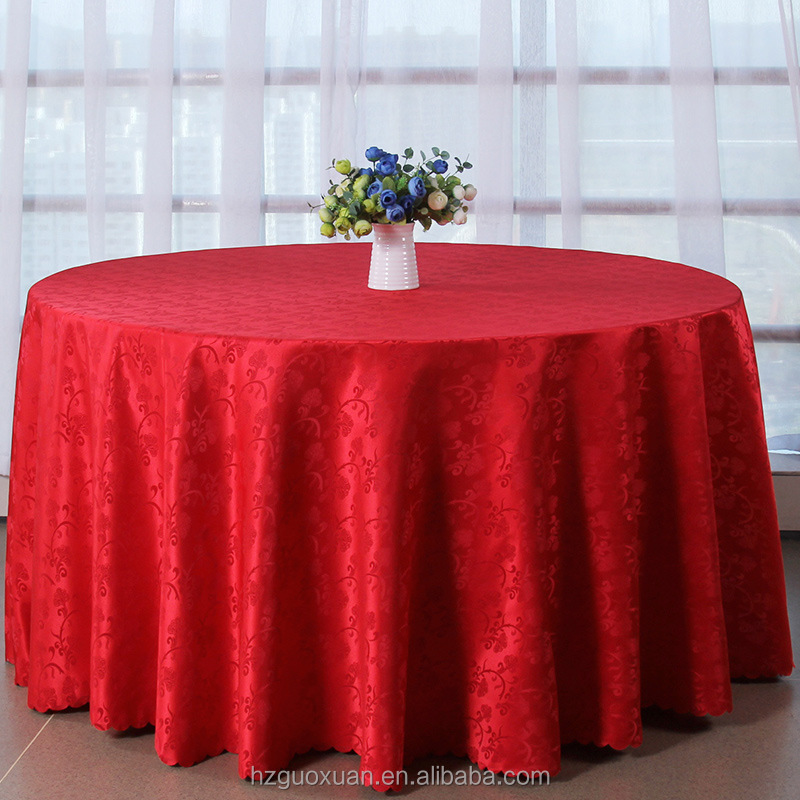 2016 new design tablecloths polyester damask decorative round table cloth for wedding