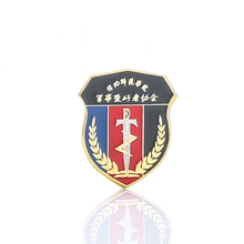 Hot sale high quality printed metal pin military badges