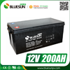 Bluesun Cycle life 500times 12V 200ah AGM batteries for solar system 10kw
