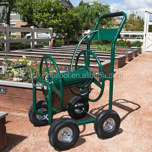 Metal four wheel garden hose reel cart TC4703