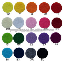 hot sale eco friendly new products promotional gift wholesale ornaments felt fabric circle sticker on alibaba express