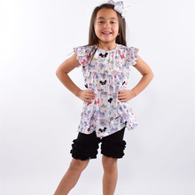 Summer kids clothing wholesale USA cotton little girls boutique clothing
