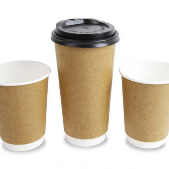 Hefei Hxin 4oz exprosso Disposable craft Ripple wall paper cups with PS plastic lids