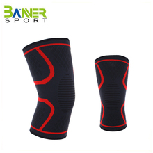 Compression elastic knee sleeve anti-slip knitted knee brace support for running cycling basketball
