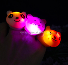Hot Sale Promotional Gifts Christmas LED Light Up Animal Finger Ring for Kids