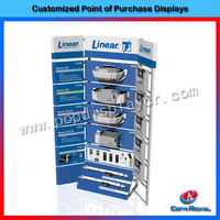 Customized design high quality electronic rolling display stand/electronic display stand