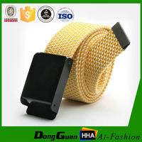 Spun cotton Solid color Iron Buckle cheap mens belt