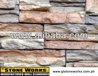 MANUFACTURED STONE WALL CLADDING - WILD SPLIT LEDGE Rosso
