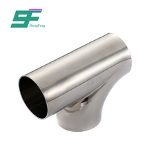 Factory customized best price stainless steel sanitary equal shape pipe fitting