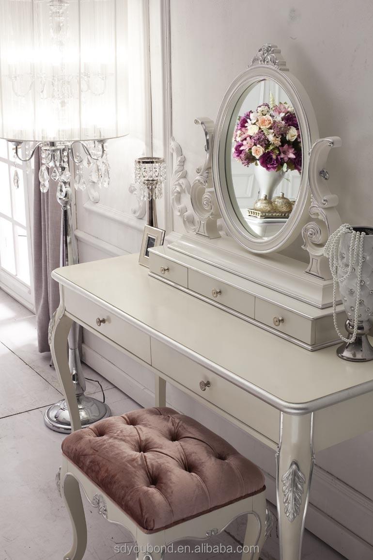 Romantische whtie yb09 franse stijl slaapkamer set meubilair voor meisje ontwerp met de hand - Meisje romantische stijl slaapkamer ...