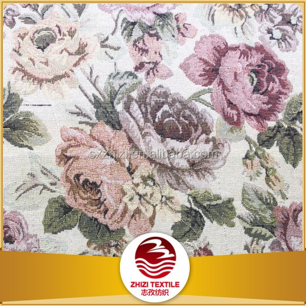 2016 Yarn dyed woven 70% polyester 30% cotton T/C jacquard fabric sofa fella designs fabric flowers wholesale