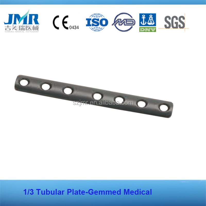 one third tubular plate surgical screws and plate orthopedic stainless steel plate bone fracture fixation