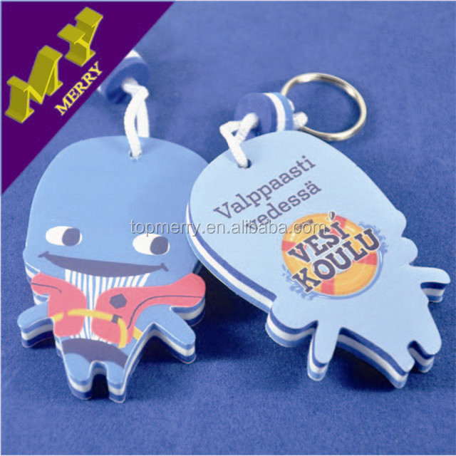 Personality crafts cheap EVA floating keychain wholesale