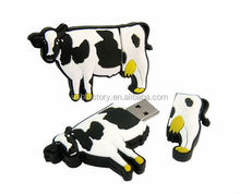2GB COW USB Flash Memory Drive, Lovely Cow Shaped 2GB USB 2.0 Flash Memory Drive Storage , Milk cow usb sticks pens