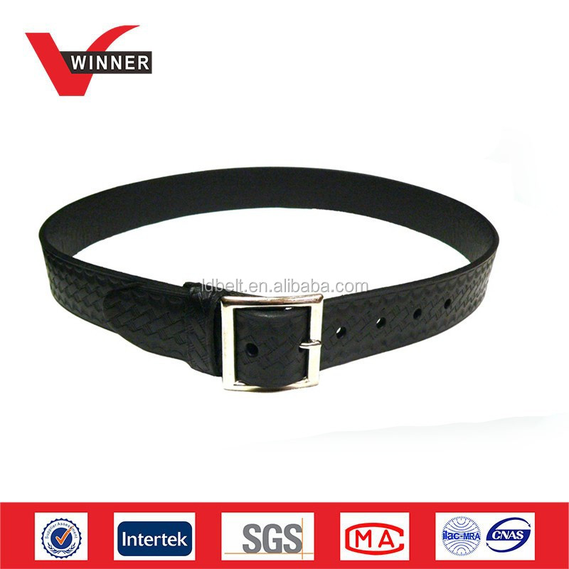 High quality police leather belt