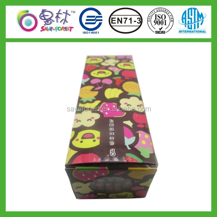 Hot sale item student fruit eraser toppers pencil for wholesale