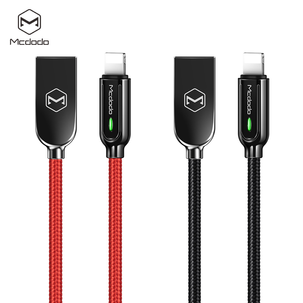 Mcdodo 4ft/6ft Nylon Braided Strong Smart Auto Disconnect Power-off  Charging USB cable for iphone X, iphone XS MAX, iphone XR