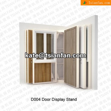 D004---New style wood door stand showcase
