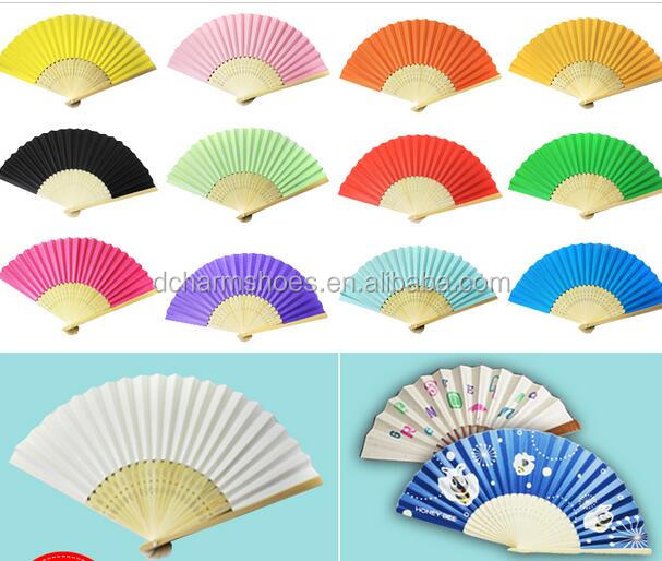 Event And Party Supplies Wedding Party Decorations Colorful Paper Fan made in China