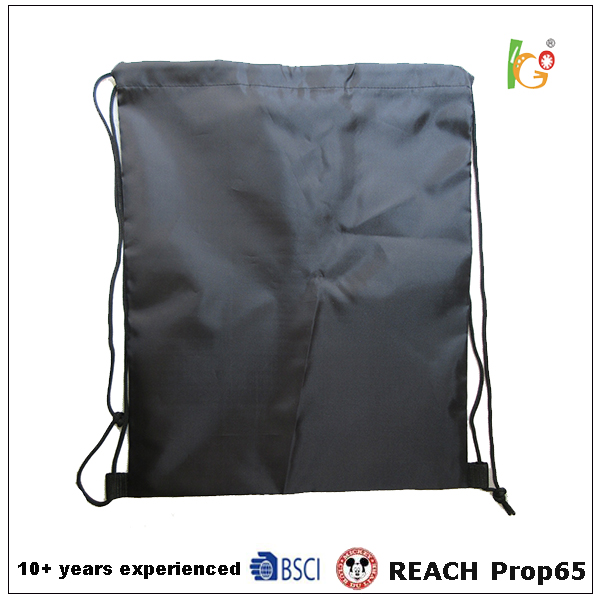 Foldable shopping with inside pocket and good quality drawstring 2016