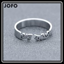 Men's Cool Snake Shape Stainless Steel Adjustable Open Ring