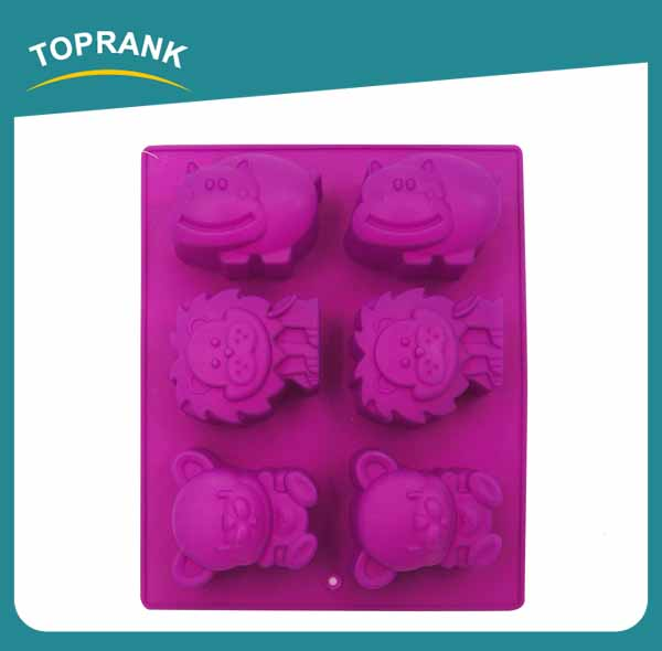 Toprank Flexible FDA Approved Custom-made 3D Cartoon Silicone Cake Mold Funny Silicone Cake Mold