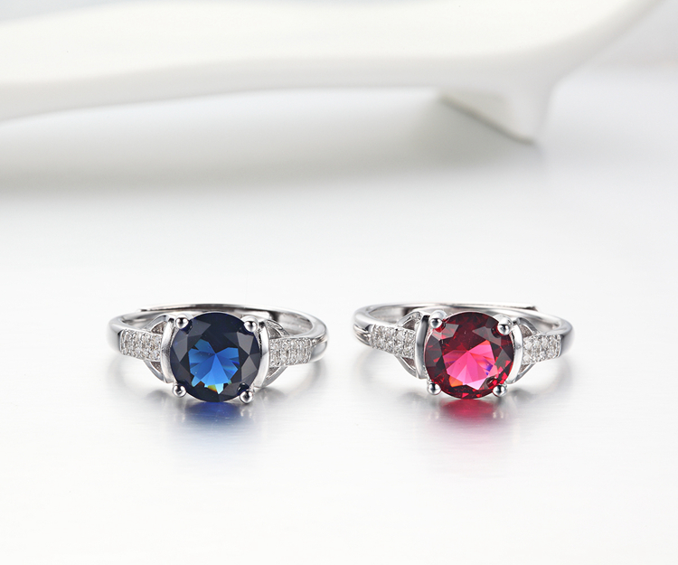 New Design s925 Platinum Women Adjustable Finger Rings Jewelry