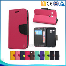 Wholesale mix color card slots leather flip cover case for Sony xperia z5 compact / z5 mini