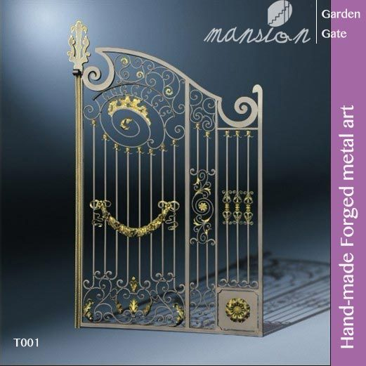 Hand-made Galvanized Forged Metal Gate for Farm, Garden, Villa