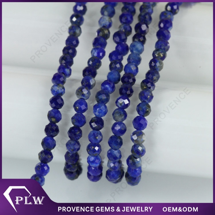 Loose Gemstone Faceted Rondelle Beads Natural Lapis Lazuli stone