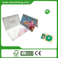 2015 OEM professional sound best wishes paper greeting card