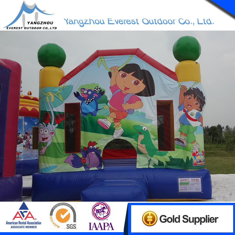 2015 Popular Cartoon 4.4x4.1x3.9m inflatable bounce castles